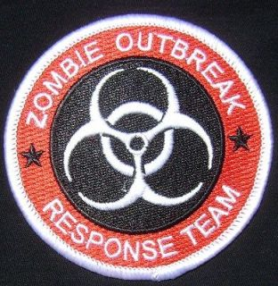 OUTBREAK RESPONSE TEAM TACTICAL BIOHAZARD MILSPEC RED VELCRO PATCH