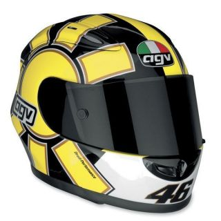 new agv xr2 valentino rossi replica gothic yellow xs helmet