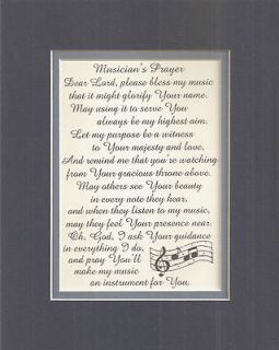 PRAYER Songs MUSIC Notes GODS INSTRUMENT Gracious verses poems plaques