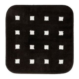New IKEA Bathmat/Rug/Bathroom/Bath Black/White Square Modern Mat Latex