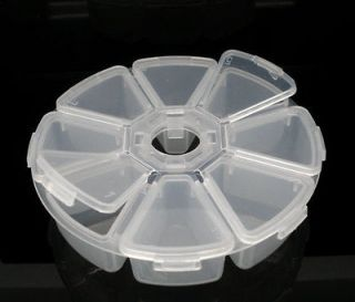 Newly listed Round Clear Beads Display Storage Case Box 11cm Dia.