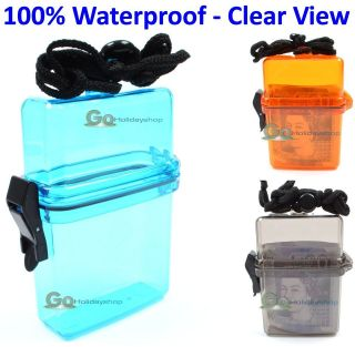 Waterproof Splash Dry Box Container Money Safe Sports Skiing Valuables
