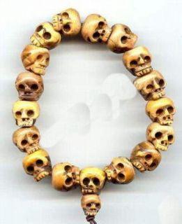 fine tibet carved skull prayer beads bracelet from china returns