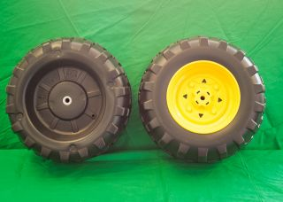 NEW** Peg Perego Gator Front Wheel Set (2 Tires) New Style