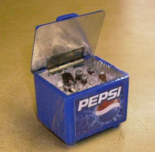 12 Scale Pepsi Cooler Box + Lifting Lid Dolls House Miniature Pub