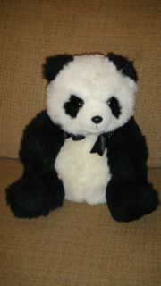 13 1990 ty Beanie Black White Panda Bear Stuffed Animal Plush VTG