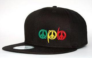 Era 9FIFTY Black Adjustable Flat Bill Snapback Snap Back Hat Cap Rasta