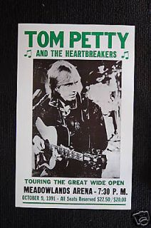 tom petty the heartbreakers 1991 tuor poster meadowla time left