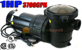 3700GPH Above Ground Swimming Pool Pump w/ Strainer UL LISTED 2 NPT