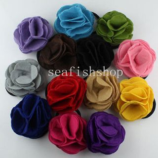 fabric flower pin in Clothing,