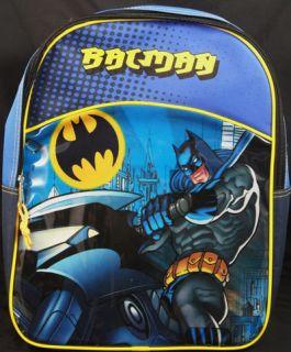 nwt blue batman backpack bag tote back pack 16 inch