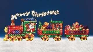 Merry Christmas Train Outdoor Holiday Christmas Yard Decor FOR PARTS