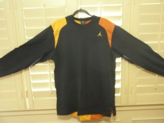 NIKE AIR JORDAN RETRO 13 LONG SLEEVE PULLOVER BLU/ORANGE DMP GRAPE