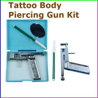 New Alloy Ear & Nose Tattoo Body Piercing Gun Tool Kit with Case/Pen