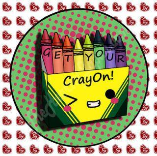 BIG BANG BADGES Korean Music PIN BUTTONS G Dragon Crayon One of a Kind