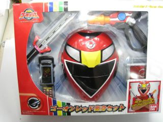 Power Ranger Engine Sentai Go Onger RPM Go on Red Henshin Gear Cosplay