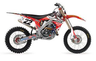 2012 CHAD REED 22 MOTORSPORTS GRAPHICS KIT HONDA CRF 250 R CRF250 R