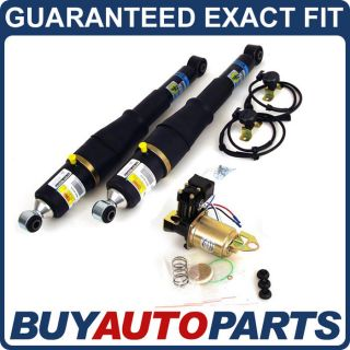 NEW REAR AIR RIDE SUSPENSION SHOCKS & COMPRESSOR KIT FOR CHEVY GMC