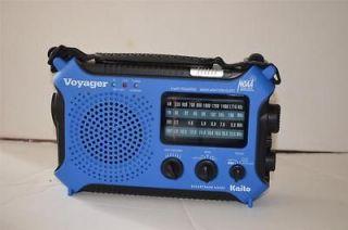 VOYAGER KA500 SOLAR/HAND CRANK WEATHER ALERT EMERGENCY RADIO BLUE