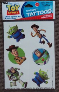 DISNEY PIXAR TOY STORY TEMPORARY TATTOOS♦☼♦BRAND NEW!! 4 FAVORS