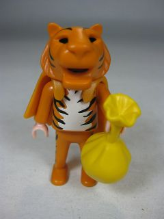 playmobil halloween tiger costume boy figure with treat bag from