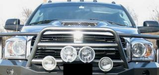 55w PAIR 7 / 18cm EXTRA LARGE BRUSH BAR GRILL MOUNT OFF ROAD LIGHTS w