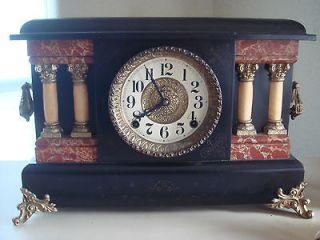 antique ingraham co colum mantle clock  76