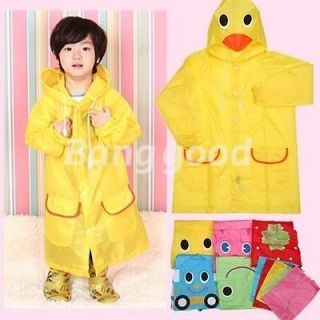 Children Kid Boy Girl Cute Funny Cartoon Hoodie Outwear Cover Rain