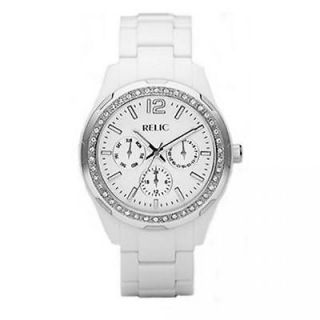 Relic By Fossil Starla White Resin Multifunction Womens Watch ZR15551