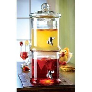 Stylesetter Double Stacked Glass Beverage Dispenser  Each Section 125