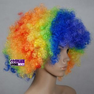 high quality jumbo unisex rainbow afro cosplay wigs a17