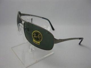 new ray ban 3343 gun metal sunglasses 100 % authentic
