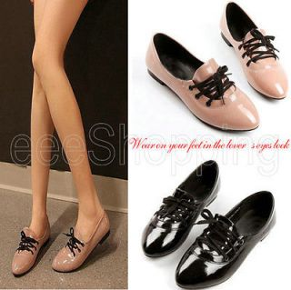 Korean Sweet Girl Comfort Shoes Comfortable Belt Tie PU leather Flat