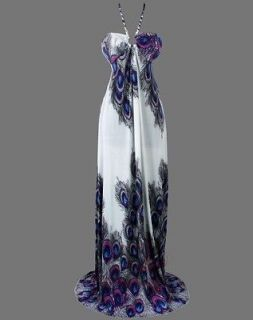floral printed peacock halter rope maxi dresses s purple from