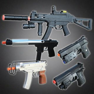 NEW Lot 5 Airsoft Spring Guns Rifle Uzi Pistols Toy Handgun Air Soft w