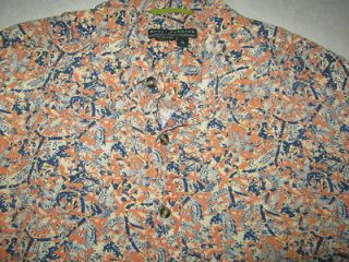 Royal Robbins Adventure Travel Brand Mens Linen Rayon Blend Hawaiian