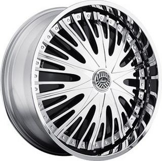 22 DAVIN REVOLVE SPINNERS Cruel Intent WHEEL SET 22x8.5 RIMS 5   6
