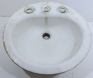 Round Cast Iron Sink by American Radiator and Standard Sanitary Corp