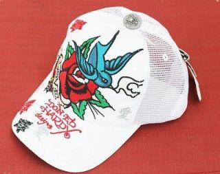 by CHRISTIAN AUDIGIER LOVE BIRD ROSE WHITE HAT TRUCKER CAP UNISEX