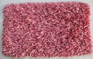 JERSEY COTTON SHAG thick plush Area RUG PINK 30 X 50