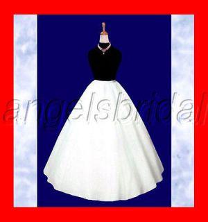 LINE HOOPLESS 3 LAYER BRIDAL WEDDING GOWN DRESS FORMAL WEAR