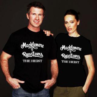 NEW MACKLEMORE RYAN LEWIS THE HEIST LOGO TOUR BLACK SHIRT S,M,L,XL,2XL
