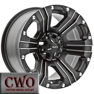17 Black Ballistic Outlaw Wheels Rims 5x114.3 5 Lug Jeep Wrangler Ford