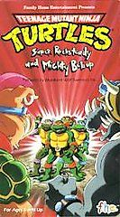Teenage Mutant Ninja Turtles   Super Rocksteady Mighty Bebop VHS, 1990