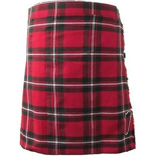 MACGREGOR Red Tartan/Plaid Deluxe Scottish Highland Kilt Skirt   US 4