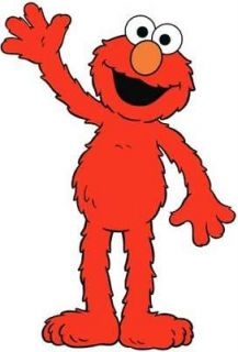 ELMO Waving   Colorful Window Cling Decal Sticker NEW   Kids TV