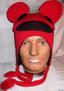 DEADMAU5 Mau5 Head Fleece Lined Red Knitted Laplander Hat/Cap