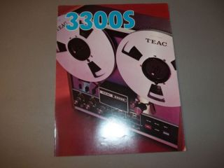 vintage 1973 teac 3300s reel to reel tape recorder booklet
