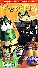 veggietales josh and the big wall vhs time left $