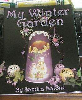 MY WINTER GARDEN SANDRA MALONE TOLE DECORATIVE PAINT PATTERN